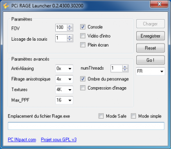 PCi RAGE Launcher 0.2.4300.30200