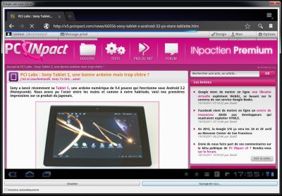 Capture d'ecran PCi v5 Pink
