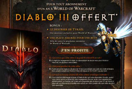 Diablo III gratuit WoW