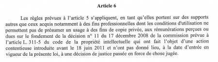commission copie privée rémunération taxe loi