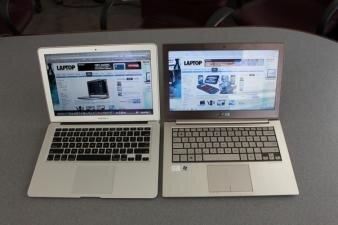 Asus Zenbook et Apple MacBook air Laptop Magazine