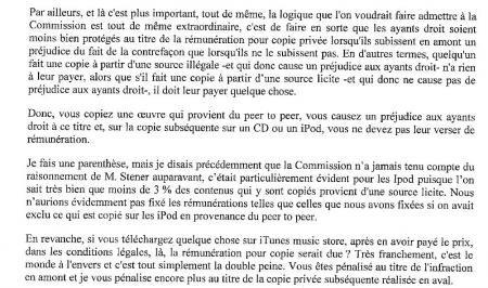 Commission copie privée compte rendu 2007
