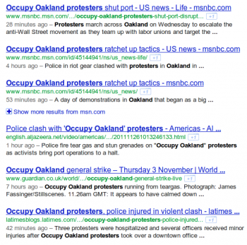 Google Recherche Fraicheur