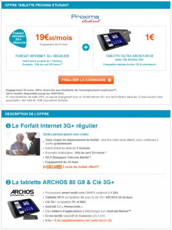 Archos Offre Etudiant Bouygues Telecom