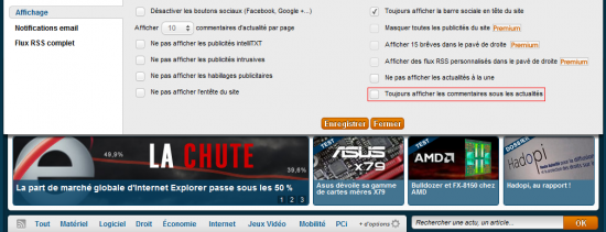 PC INpact v5 Option commentaires