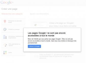 Google+ Page Rejet