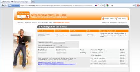 faille site La Poste Colissimo.fr