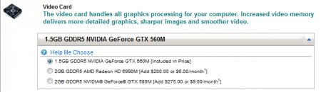 Baisse de prix de la GeForce GTX 580M