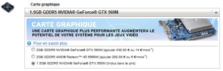 Baisse GeForce GTX 580M