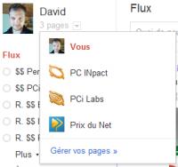 Google+ Gestion des pages
