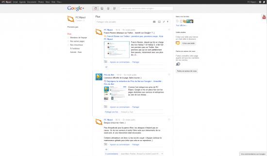 Page PCi Google+
