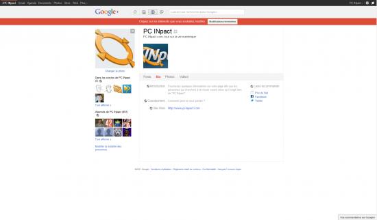 Edition profil PCi Google+