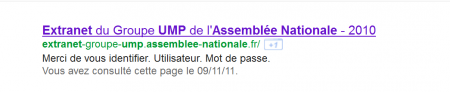 Extranet Groupe UMP Assemblée Nationale