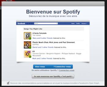 Facebook Spotify Musique