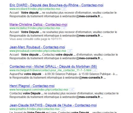 députés mes-conseils.fr faille SQL UMP DOX