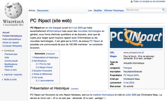 Wikipédia PCINpact
