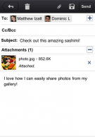 Application Gmail iOS