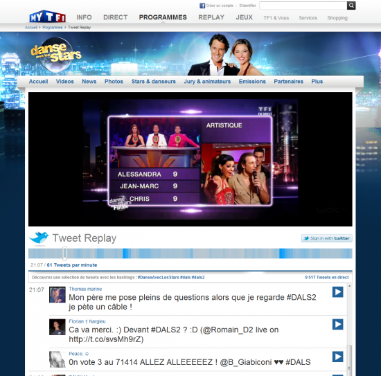 TF1 Tweet Replay