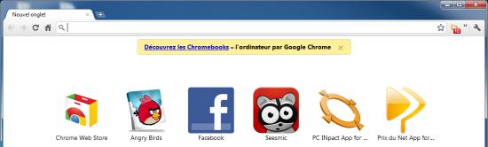 Publicité Chromebook