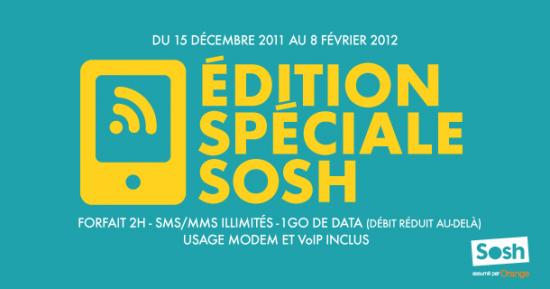 Sosh edition spéciale 2 heures
