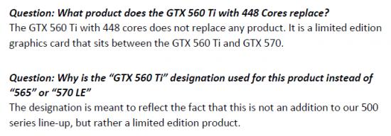 GeForce GTX 560 Ti 448 coeurs
