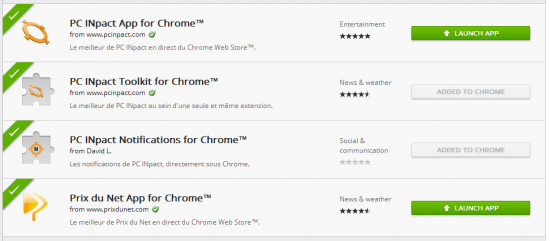 Chrome Web Store PC INpact