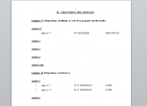 copie privée amendements