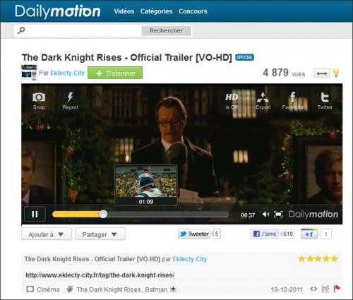 Dailymotion prévisualisation