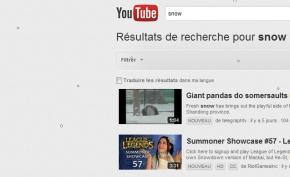 Google YouTube neige