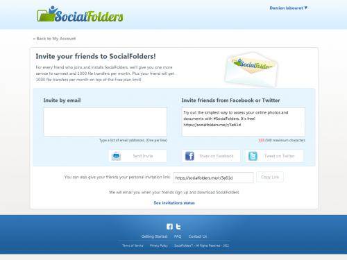 Social Folders Invitation