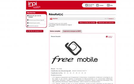 Free Mobile INPI