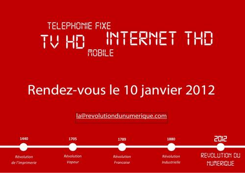 Numericable Revolution Numerique 2012