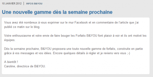B&You nouveaux forfaits Free Mobile