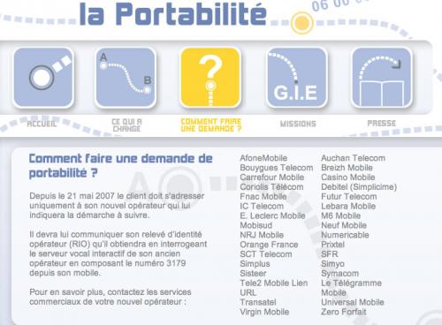 Portabilite GIE EPG
