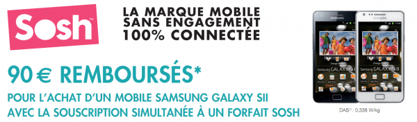 Sosh 90 € Galaxy SII