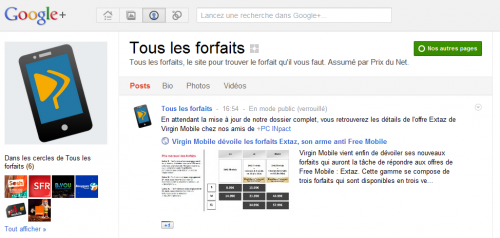 Tous les forfaits Google