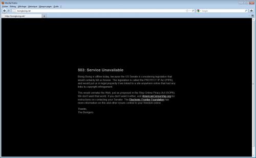 black out SOPA PIPA