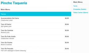 Foursquare menu restaurant