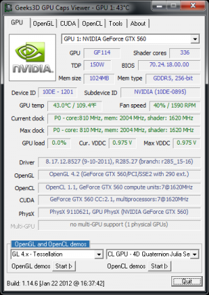 GPU Caps Viewer 1.14.6