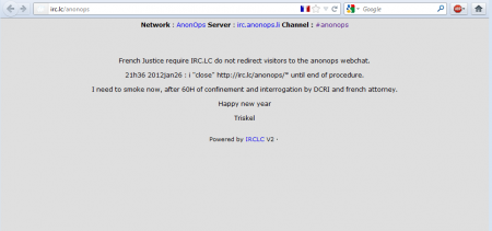 anonymous anonops IRC.LC france