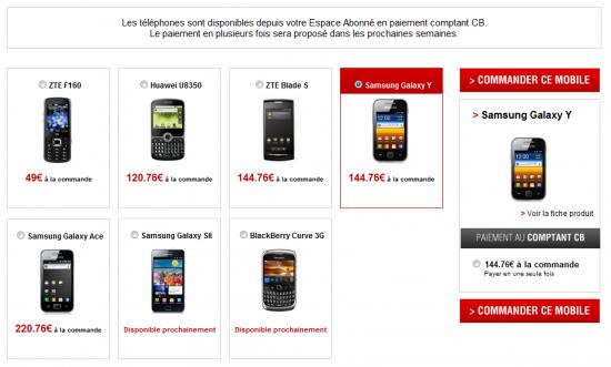 Free Mobile smartphone vente