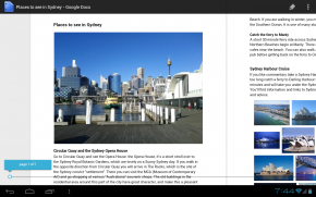 Android google docs tablette