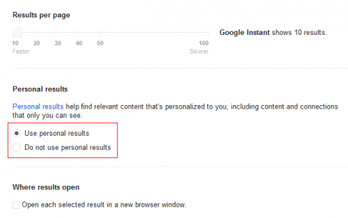 Recherche sociale Google