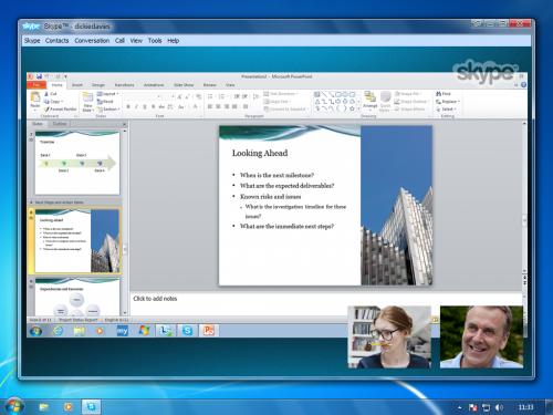 Skype partage
