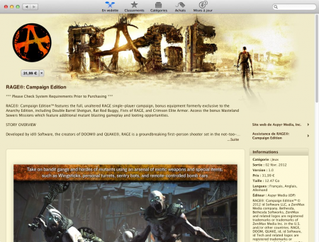 Rage campain edition Mac App Store