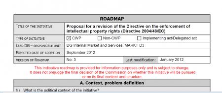 roadmap feuille de route IPRED ACTA
