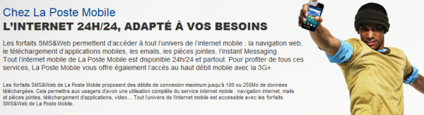 LA Poste Mobile internet 24h/24