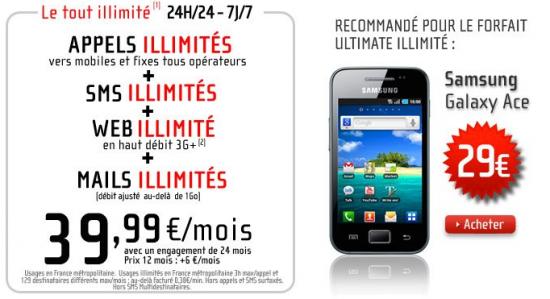 NRJ Mobile ultimate illimité 39.99 €