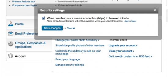 LinkedIn HTTPS