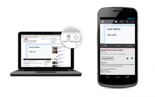 Chrome to mobile Android
